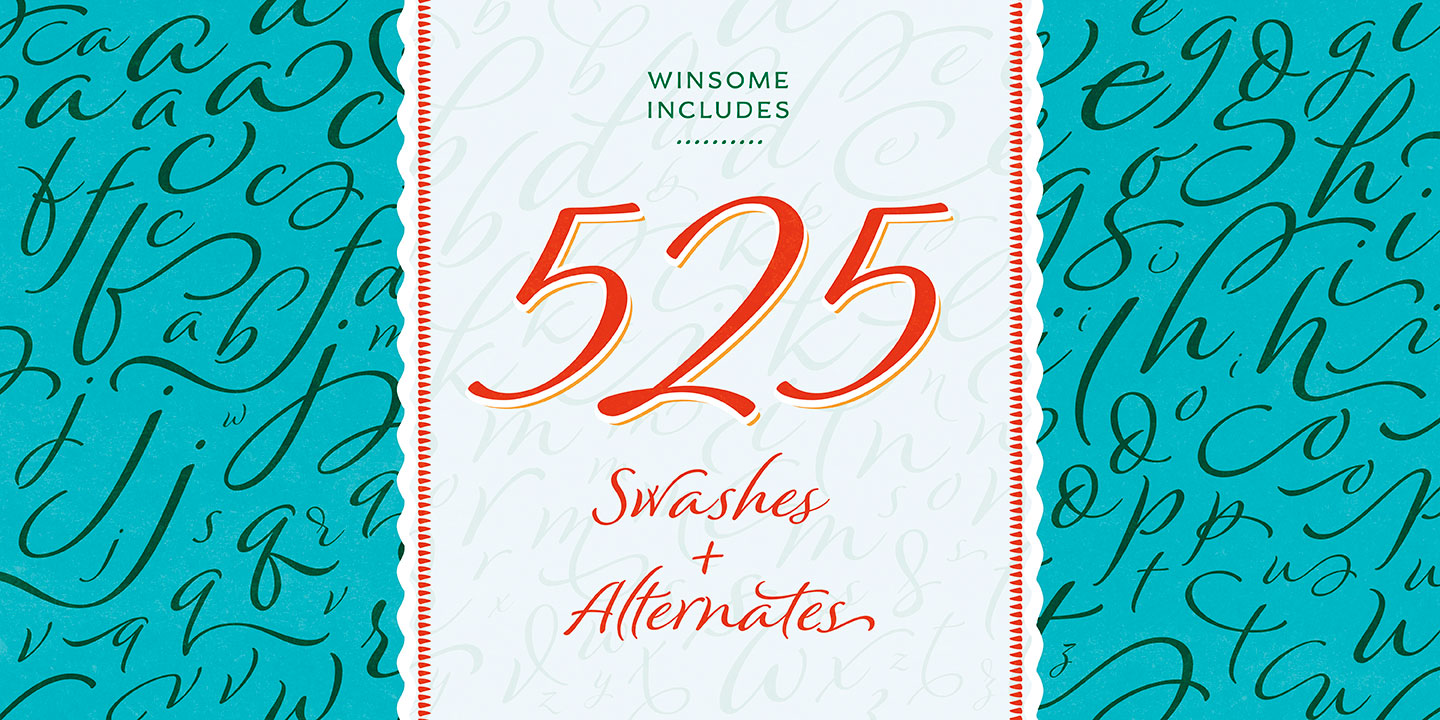 Winsome font family - 6