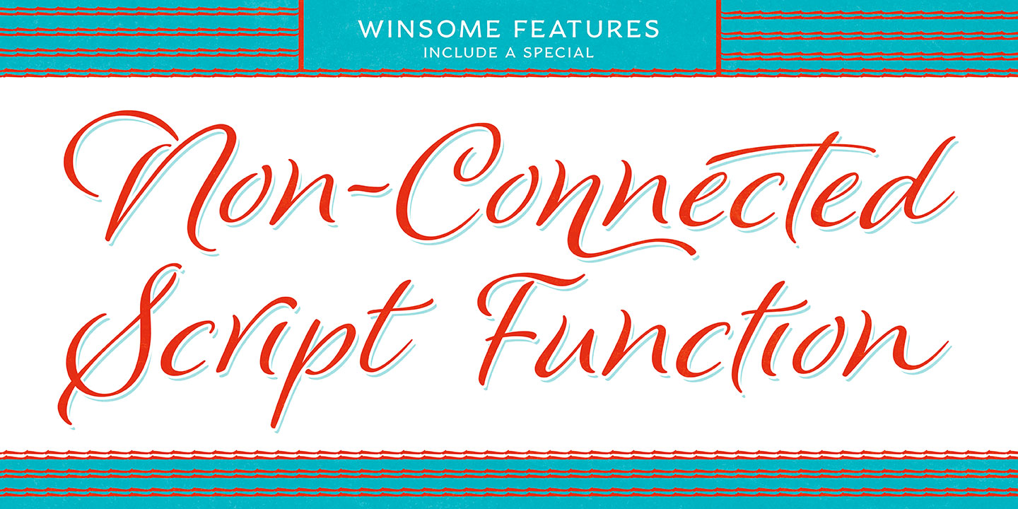 Winsome font family - 8
