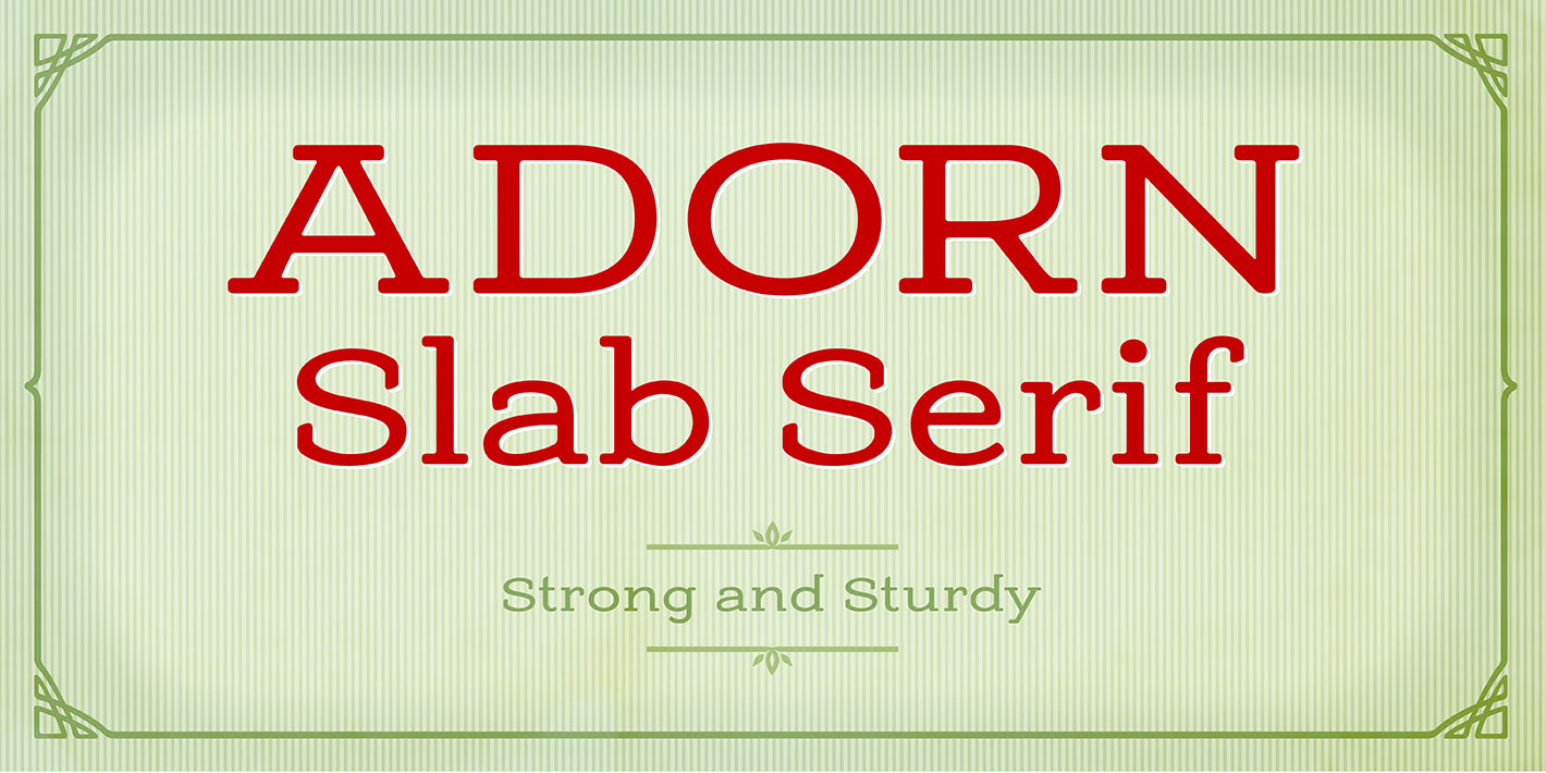 Fontspring | Adorn Smooth Collection Fonts by Laura Worthington