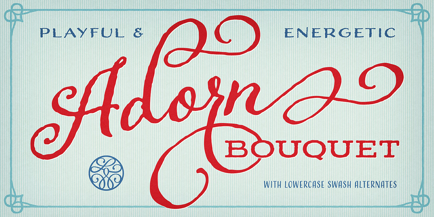 Fontspring | Adorn Bouquet Font by Laura Worthington