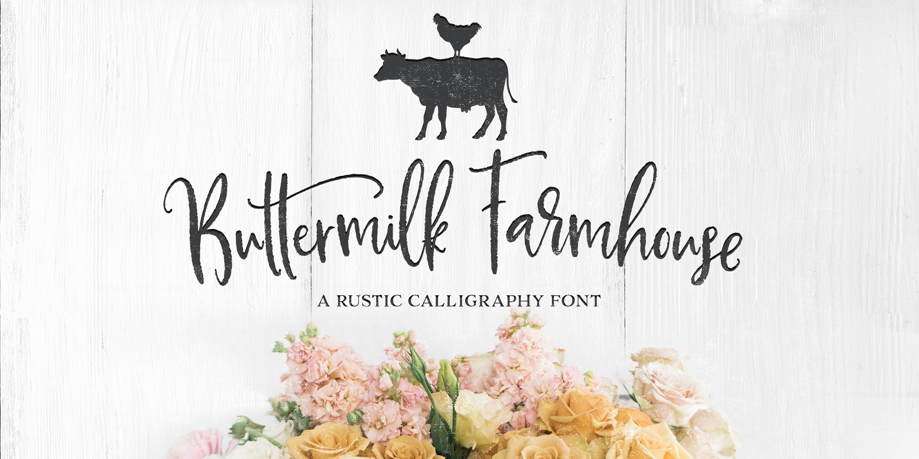 Fontspring | Buttermilk Farmhouse Fonts by MakeMediaCo