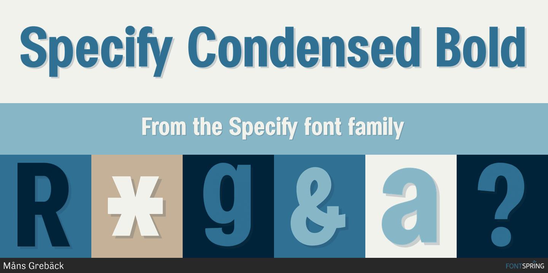 Fontspring   Specify Condensed Bold Fonts by Måns Grebäck