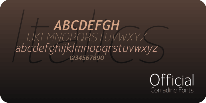 Official font family - 3