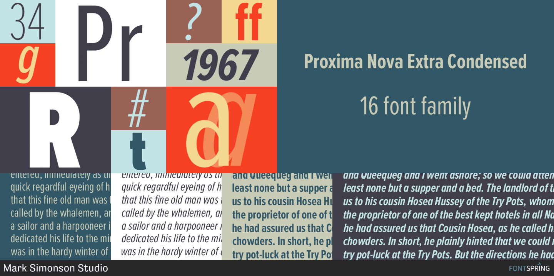 Fontspring | Proxima Nova Fonts by Mark Simonson Studio