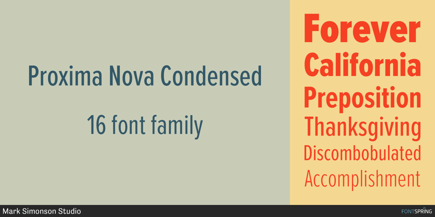 Fontspring | Proxima Nova Fonts by Mark Simonson Studio