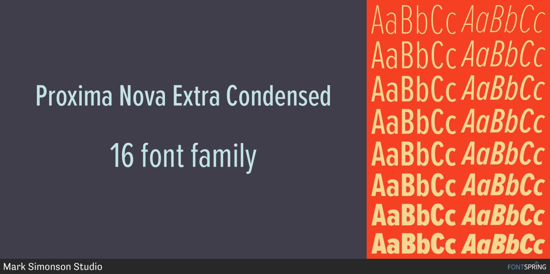 Fontspring   Proxima Nova Fonts by Mark Simonson Studio