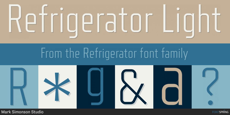 Fontspring | Similar Fonts To Refrigerator