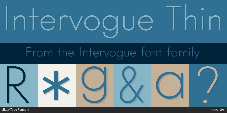 Fontspring | Similar Fonts To Intervogue
