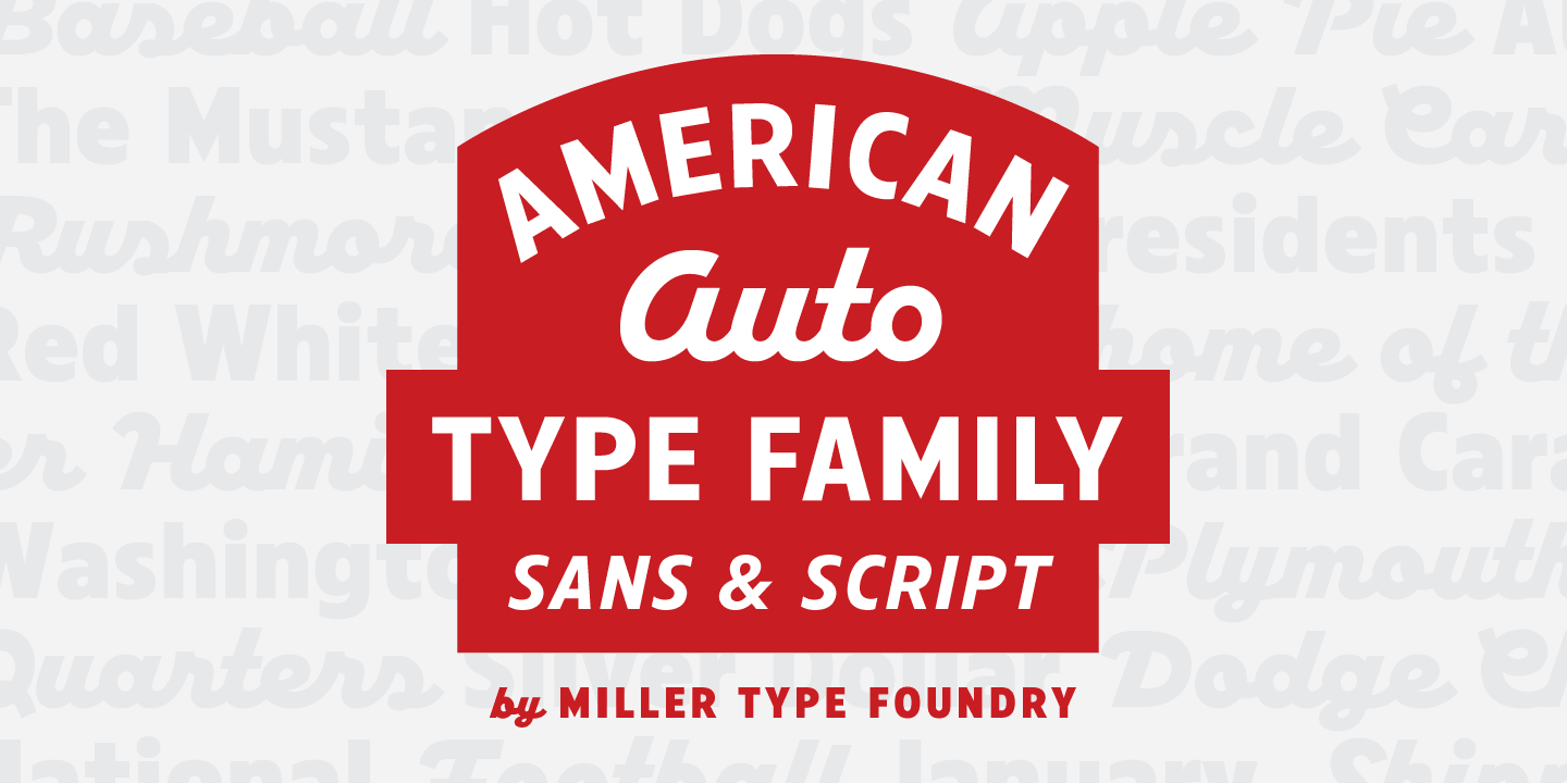 Fontspring   American Auto Fonts by Miller Type Foundry