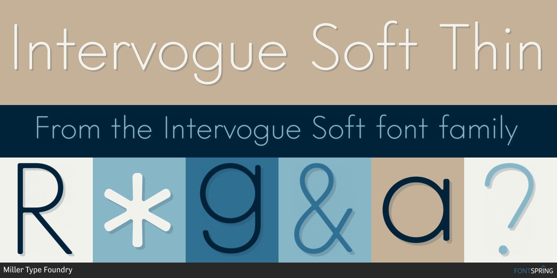 Fontspring | Similar Fonts To Intervogue Soft