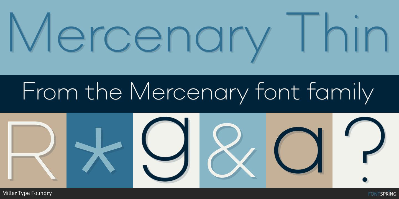 Fontspring | Similar Fonts To Mercenary