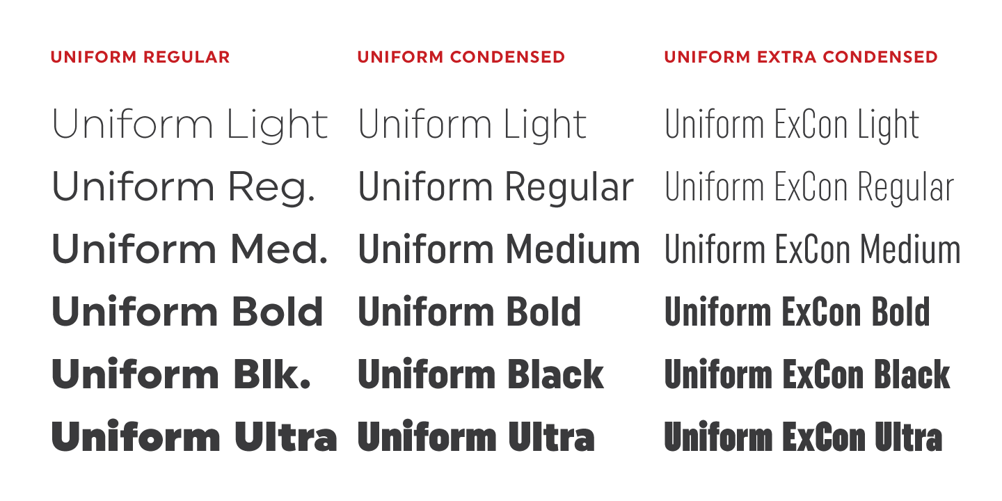 Fontspring | Uniform Fonts by Miller Type Foundry