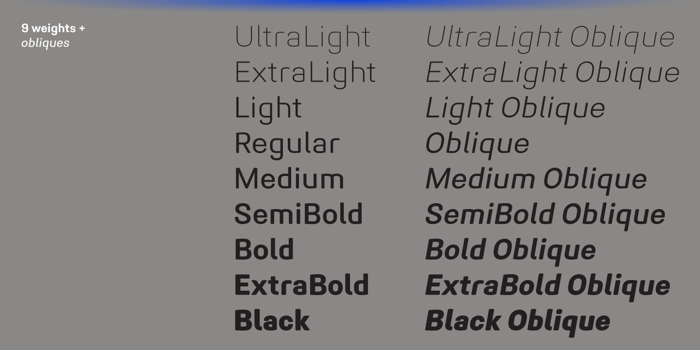 Midpoint Pro font family - 1