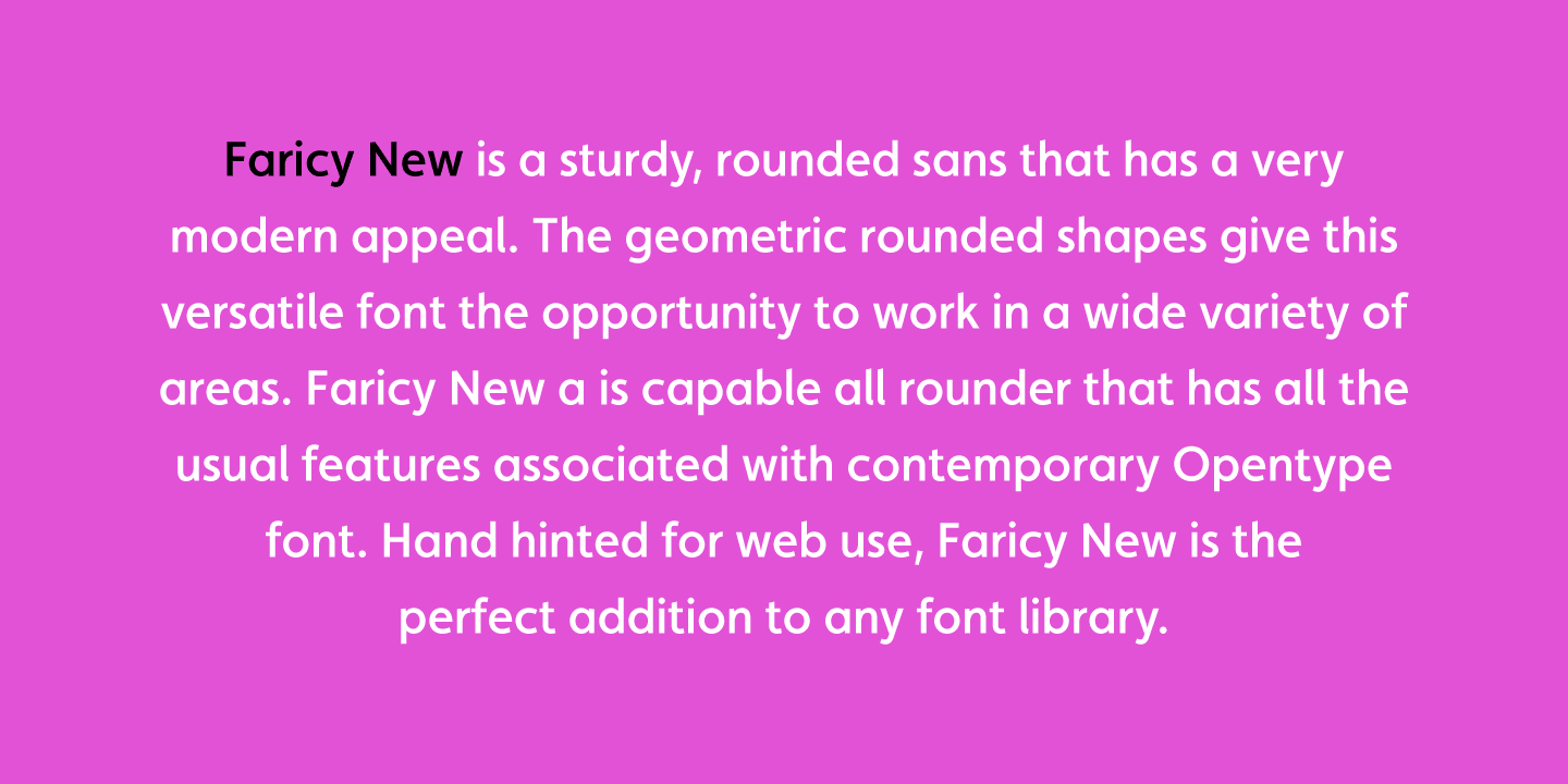 Faricy New font family - 1