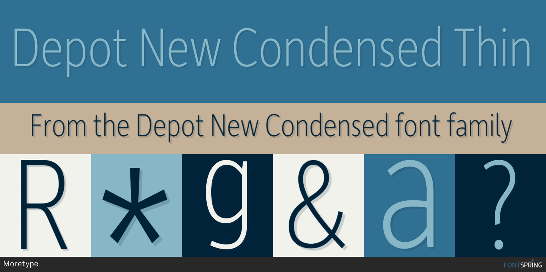 Fontspring | Similar Fonts To Depot New Condensed