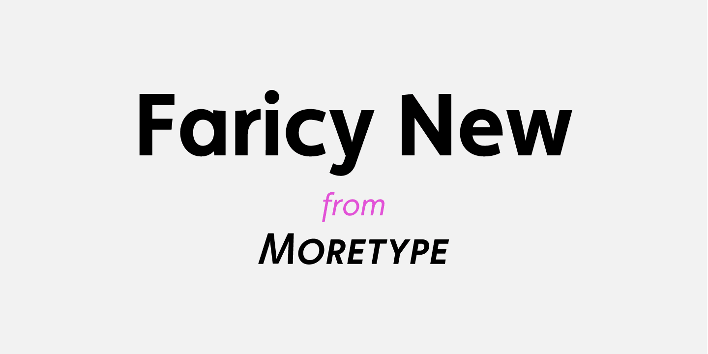 Faricy New font family