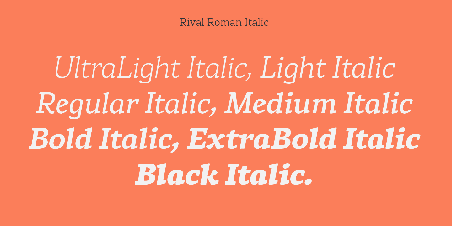 Fontspring | Rival Fonts by Mostardesign