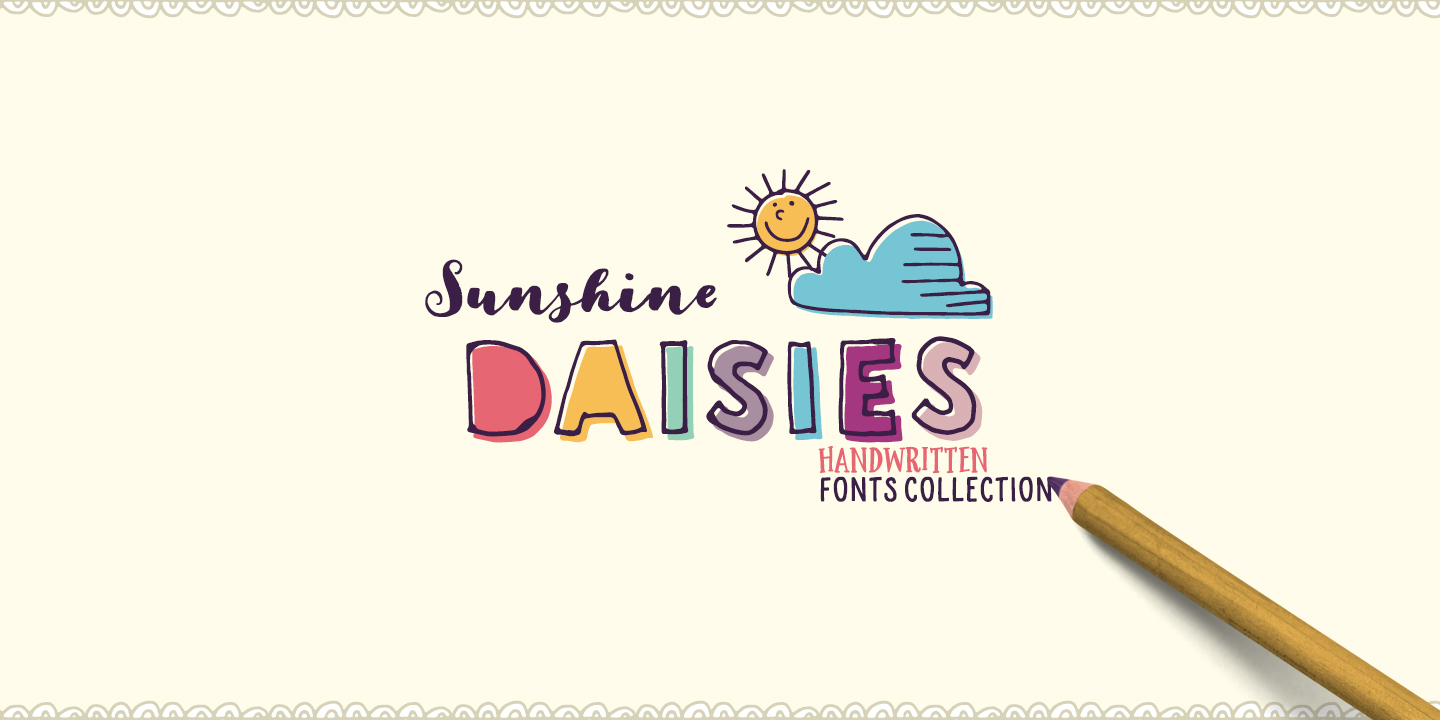 Sunshine Daisies font family