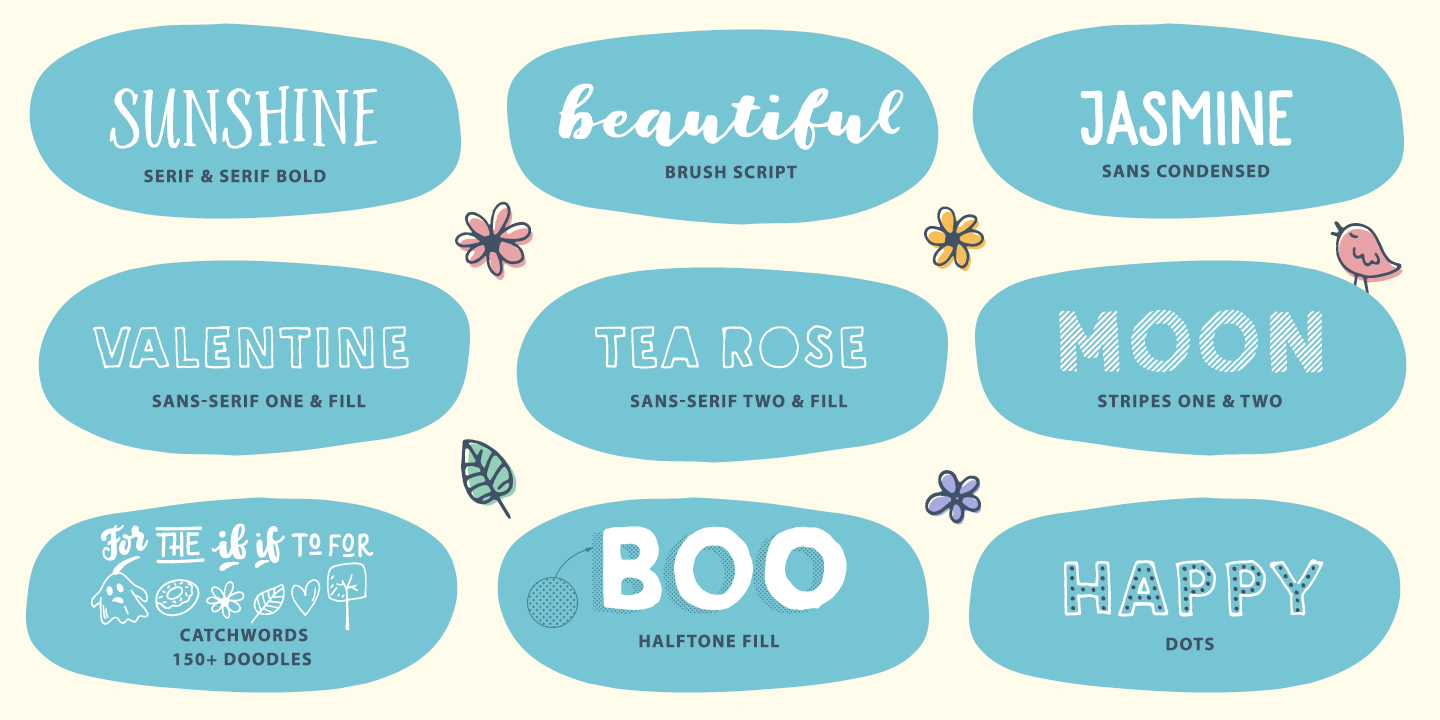 Sunshine Daisies font family - 2