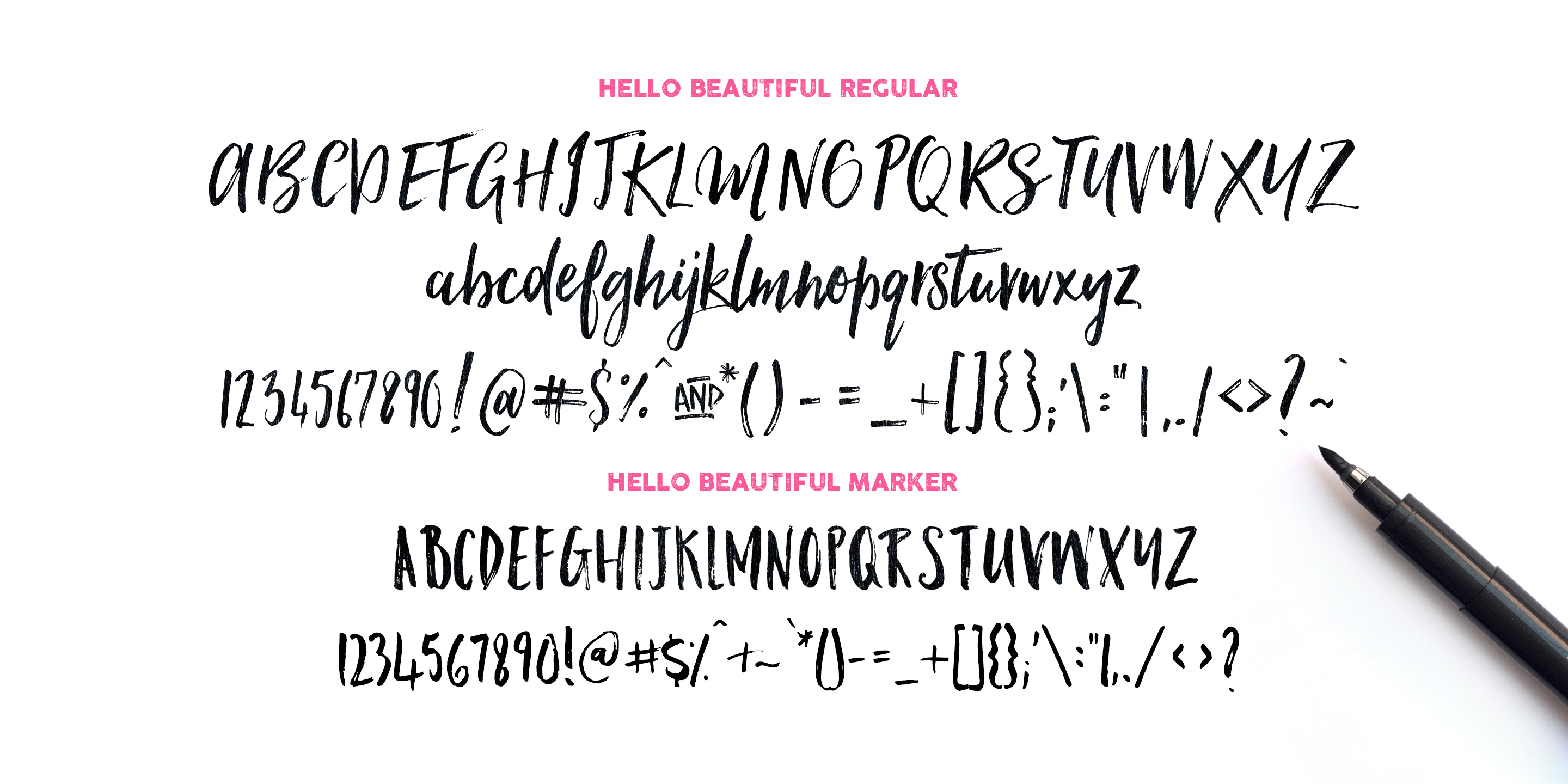 Hello Beautiful Font Duo Swashes