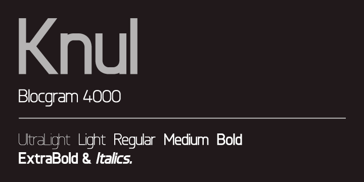 Knul font family