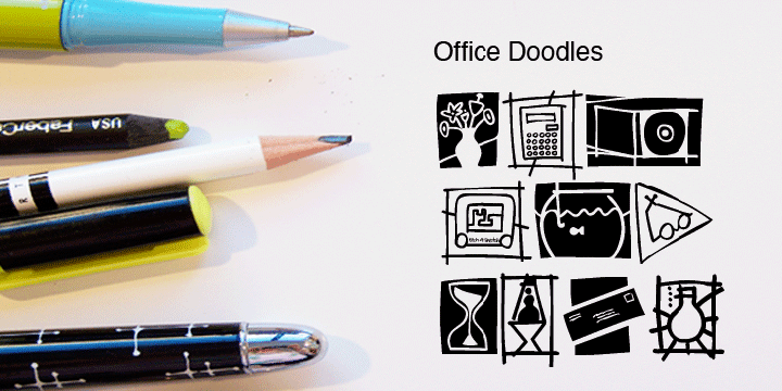 Office Doodles font family