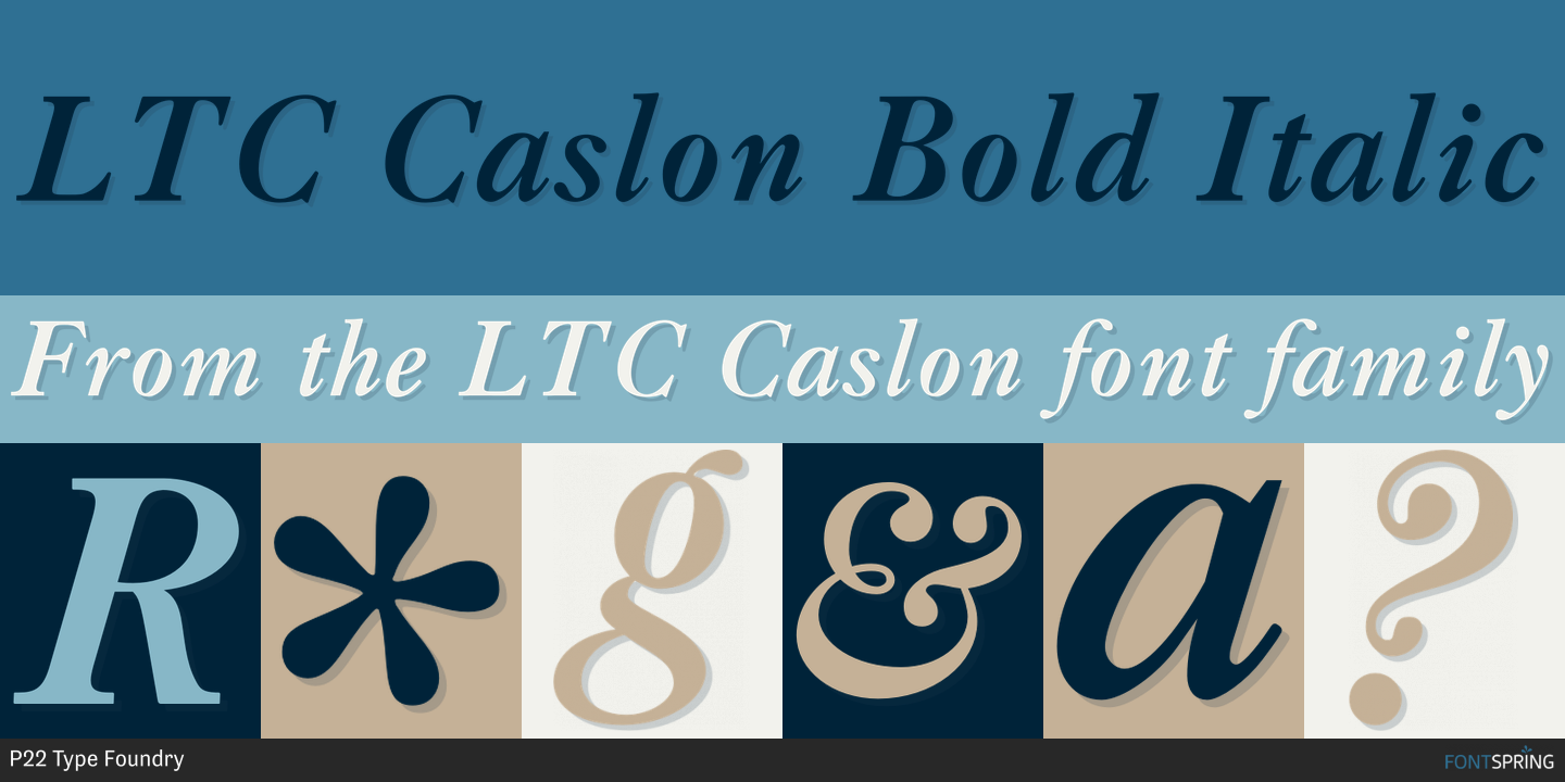 Fontspring | LTC Caslon Fonts by P22 Type Foundry