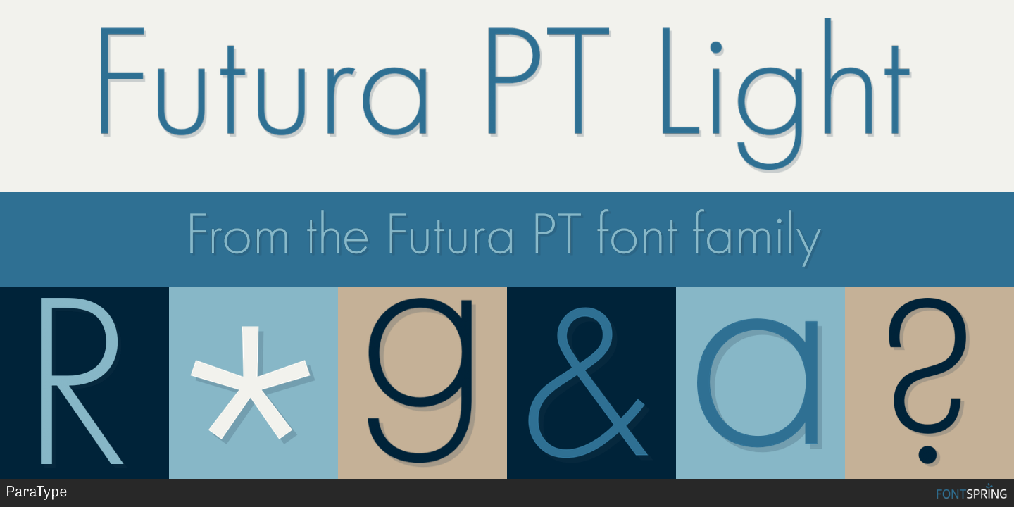 Fontspring | Similar Fonts To Futura PT