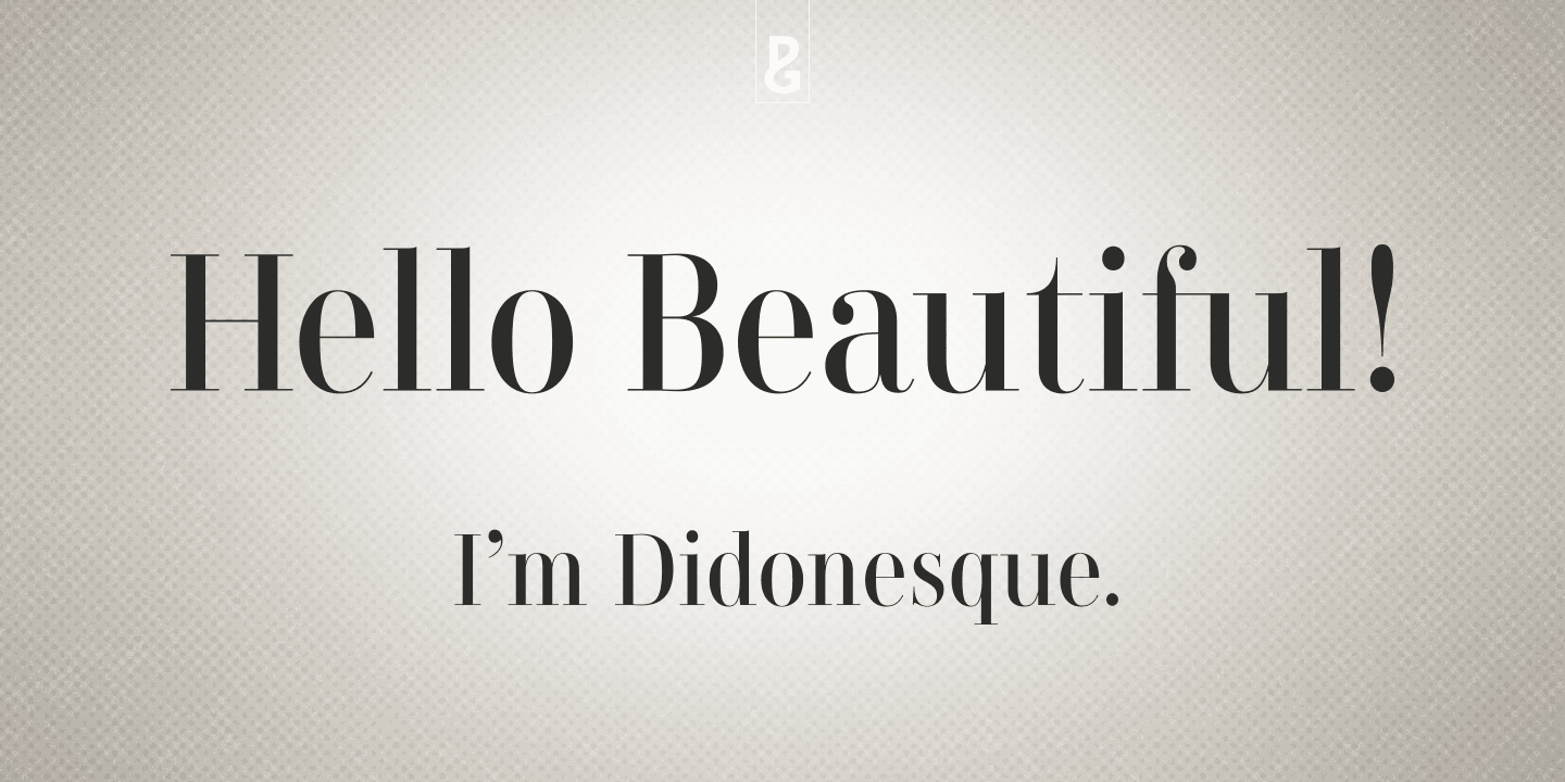 Didonesque font family