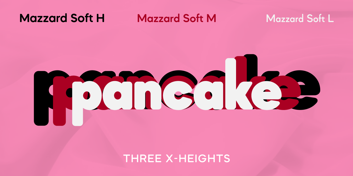 Mazzard Soft font collection - 4