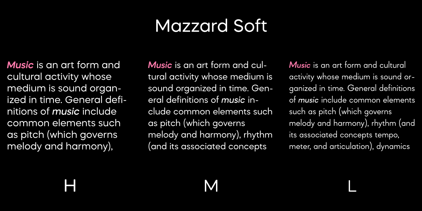 Mazzard Soft font collection - 6