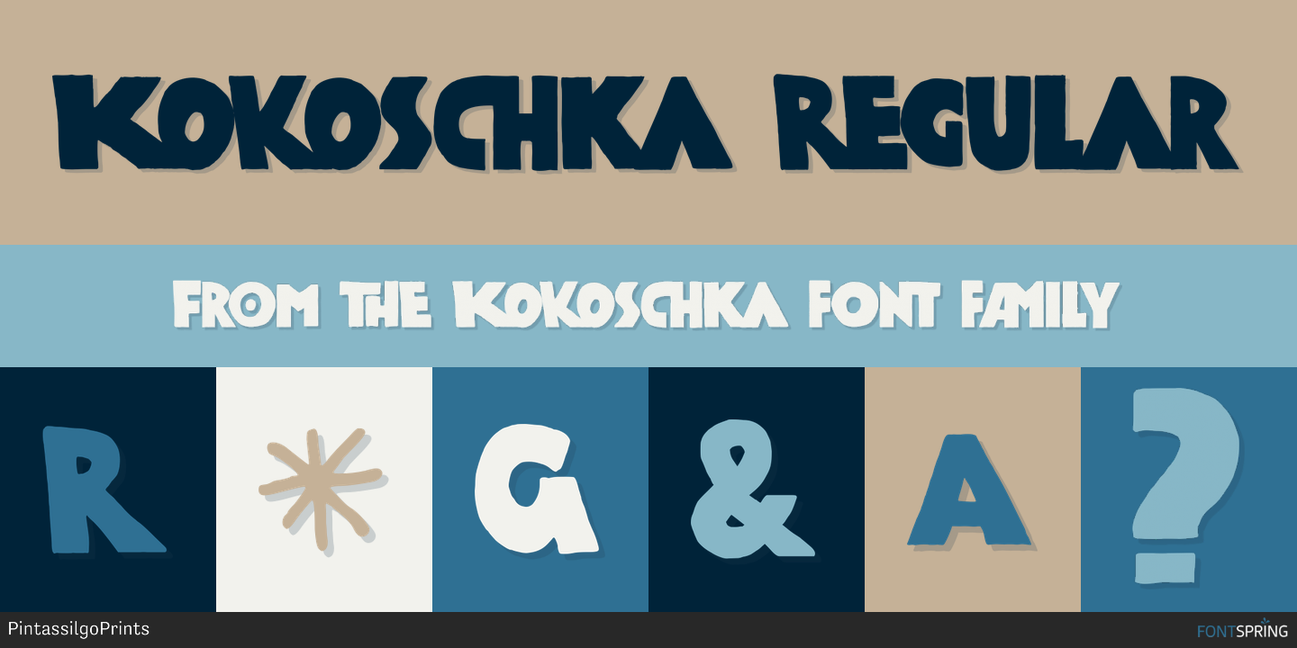 Fontspring | Similar Fonts To Kokoschka