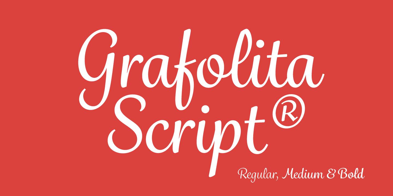 fontspring  u00bb grafolita script fonts by rui abreu