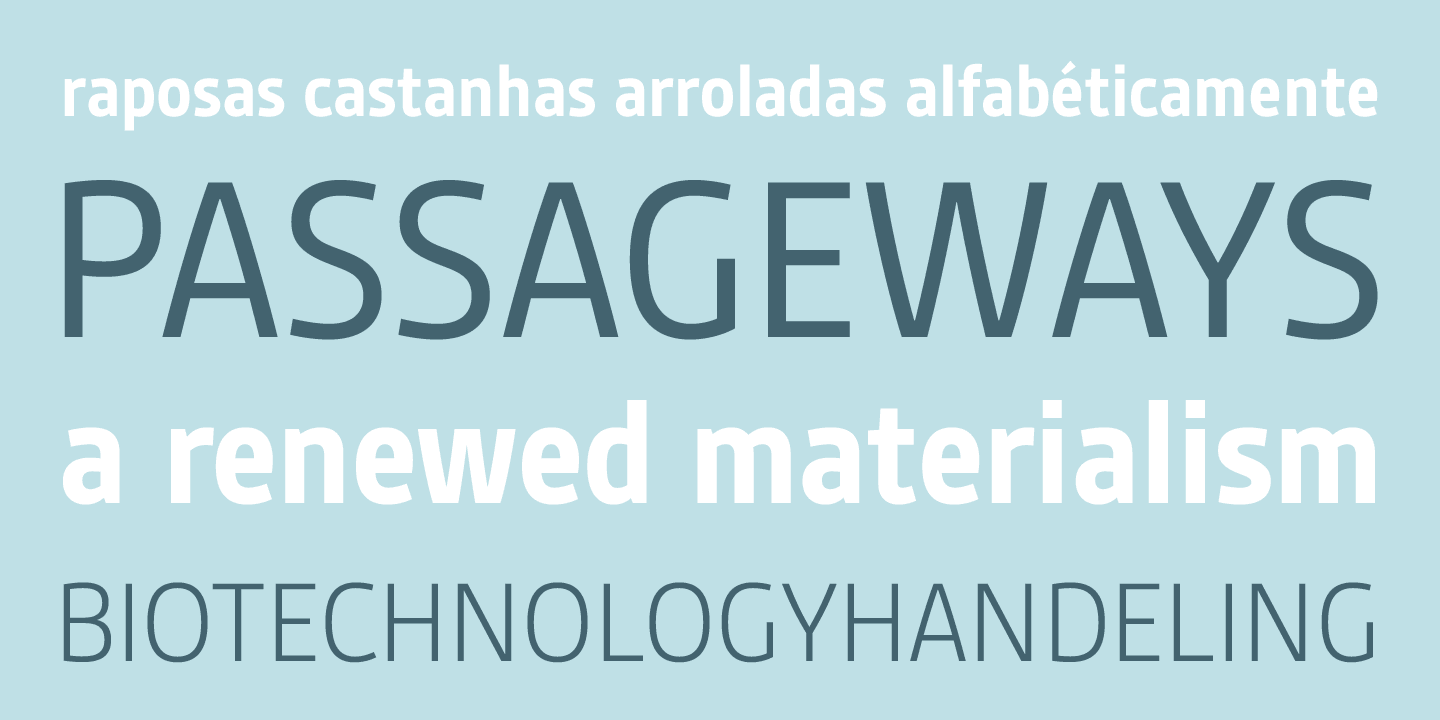 Gesta SemiCondensed font family - 1
