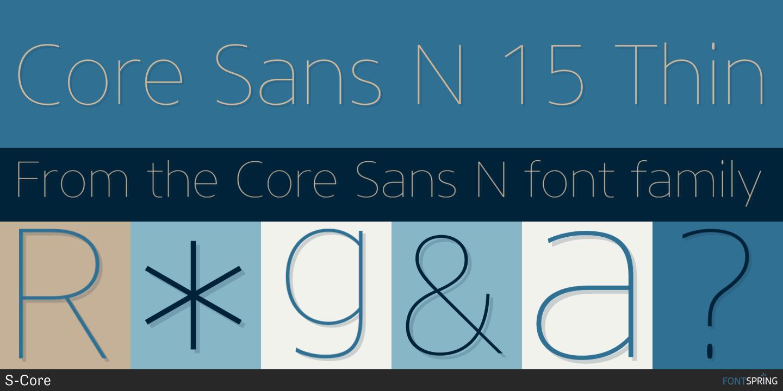Fontspring | Similar Fonts To Core Sans N