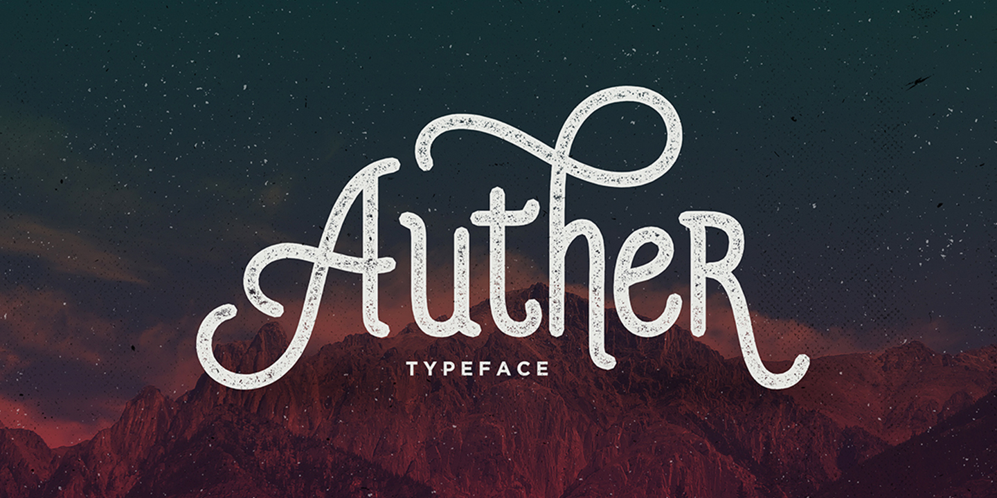 auther typeface font