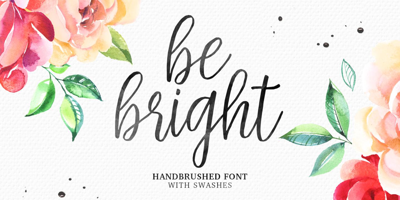 fontspring  u00bb be bright fonts by seniors studio