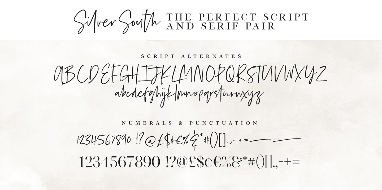 Fontspring | Silver South Fonts by Set Sail Studios