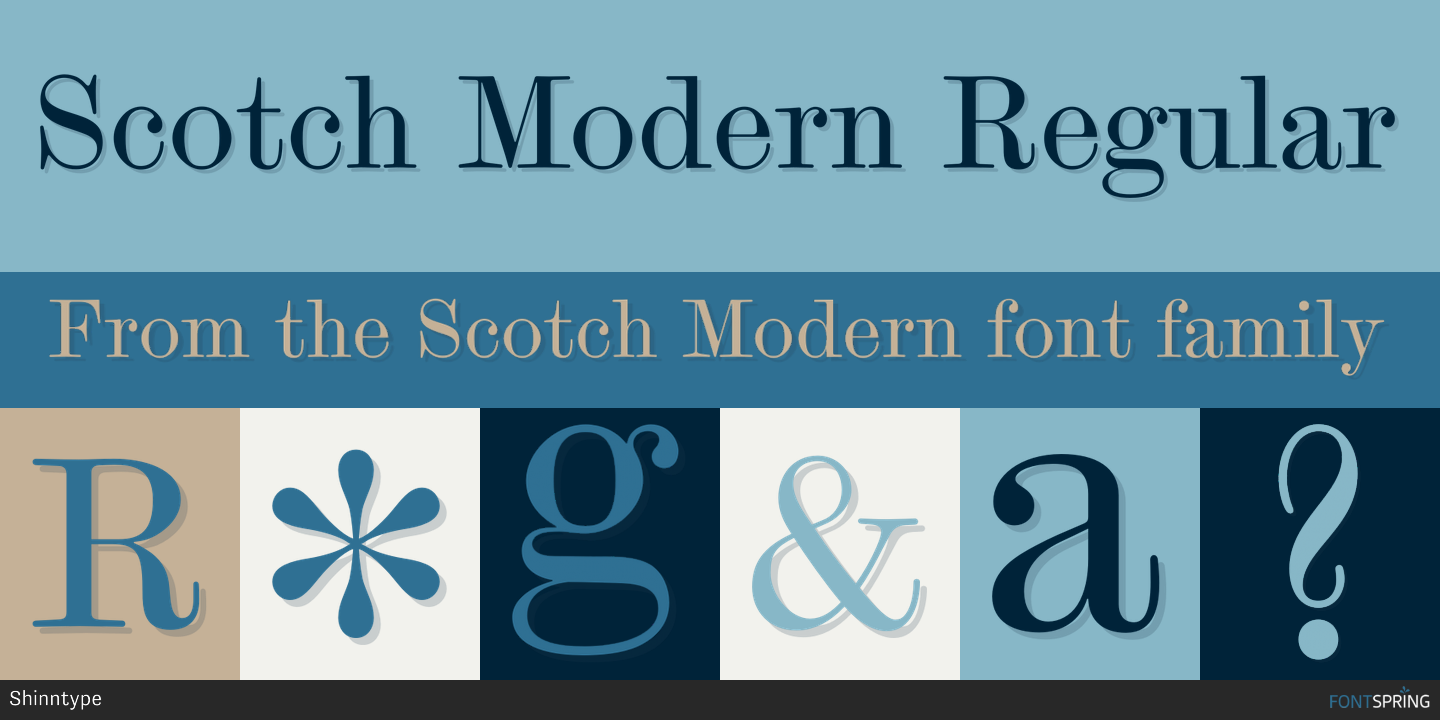 Fontspring | Similar Fonts To Scotch Modern