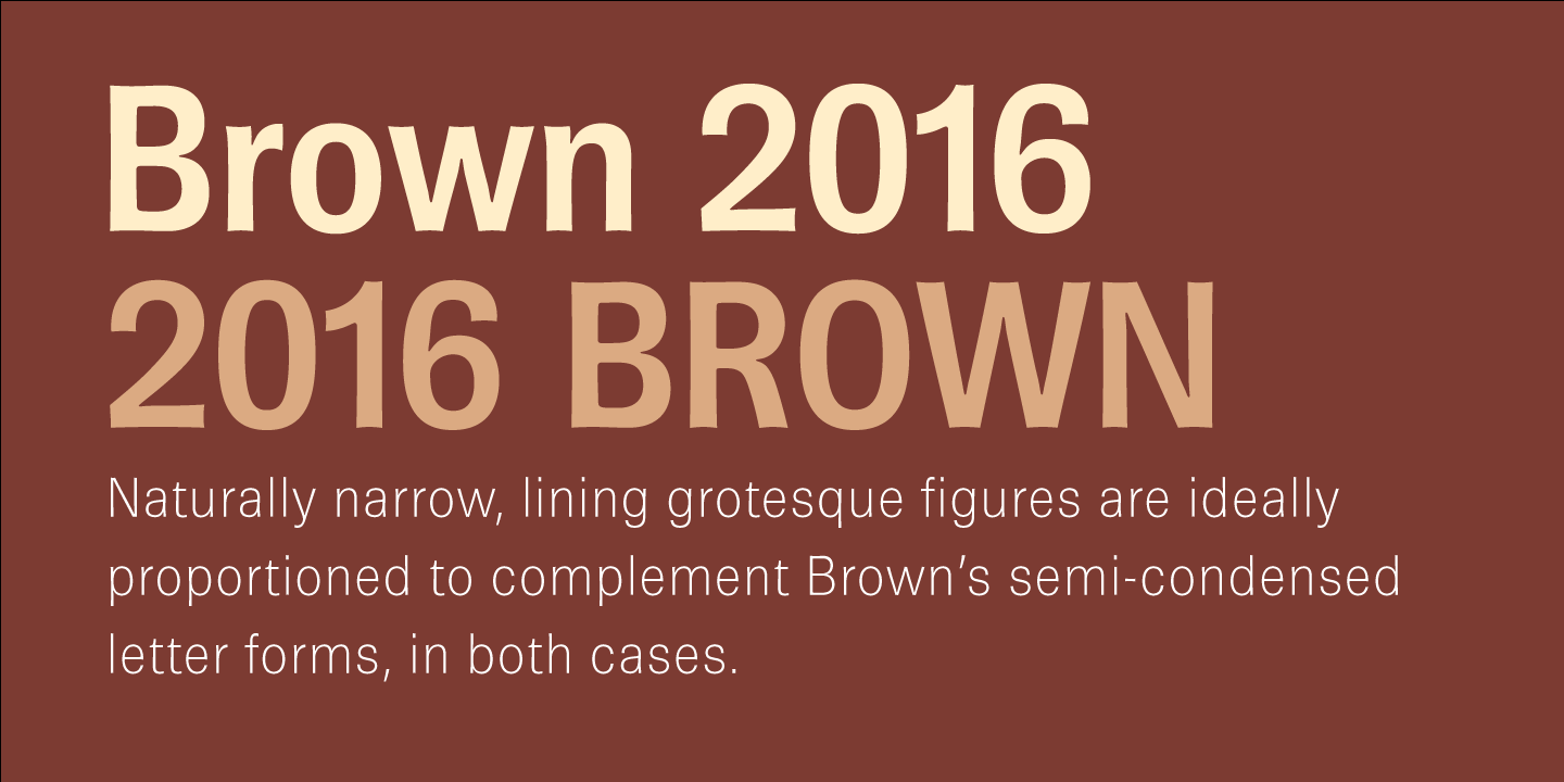 Brown Pro font family - 2