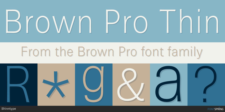 Fontspring | Similar Fonts To Brown Pro