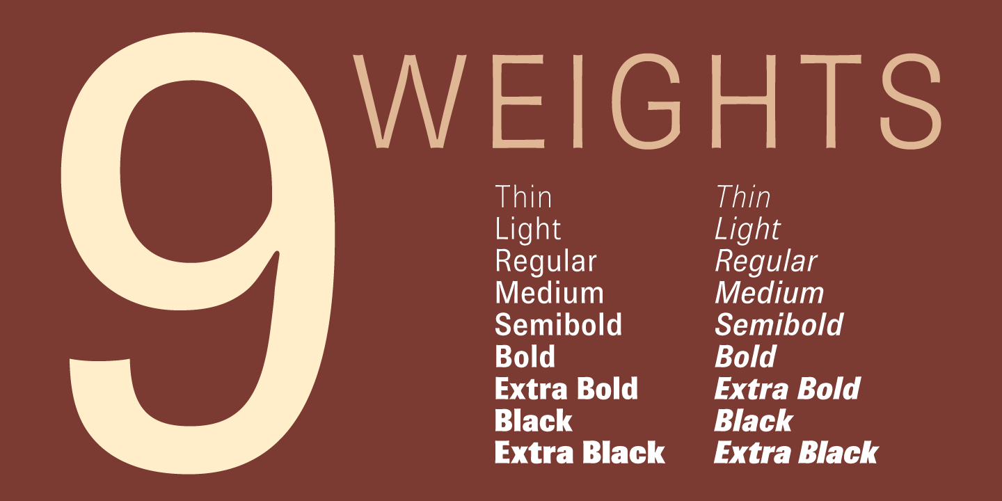 Brown Pro font family - 1