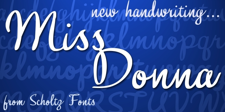 Miss Donna font family