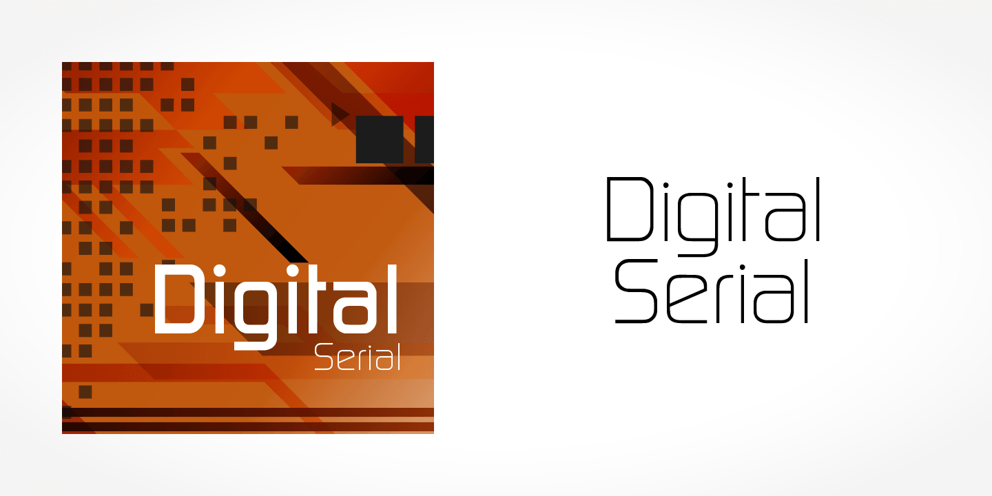 Digital Serial font family