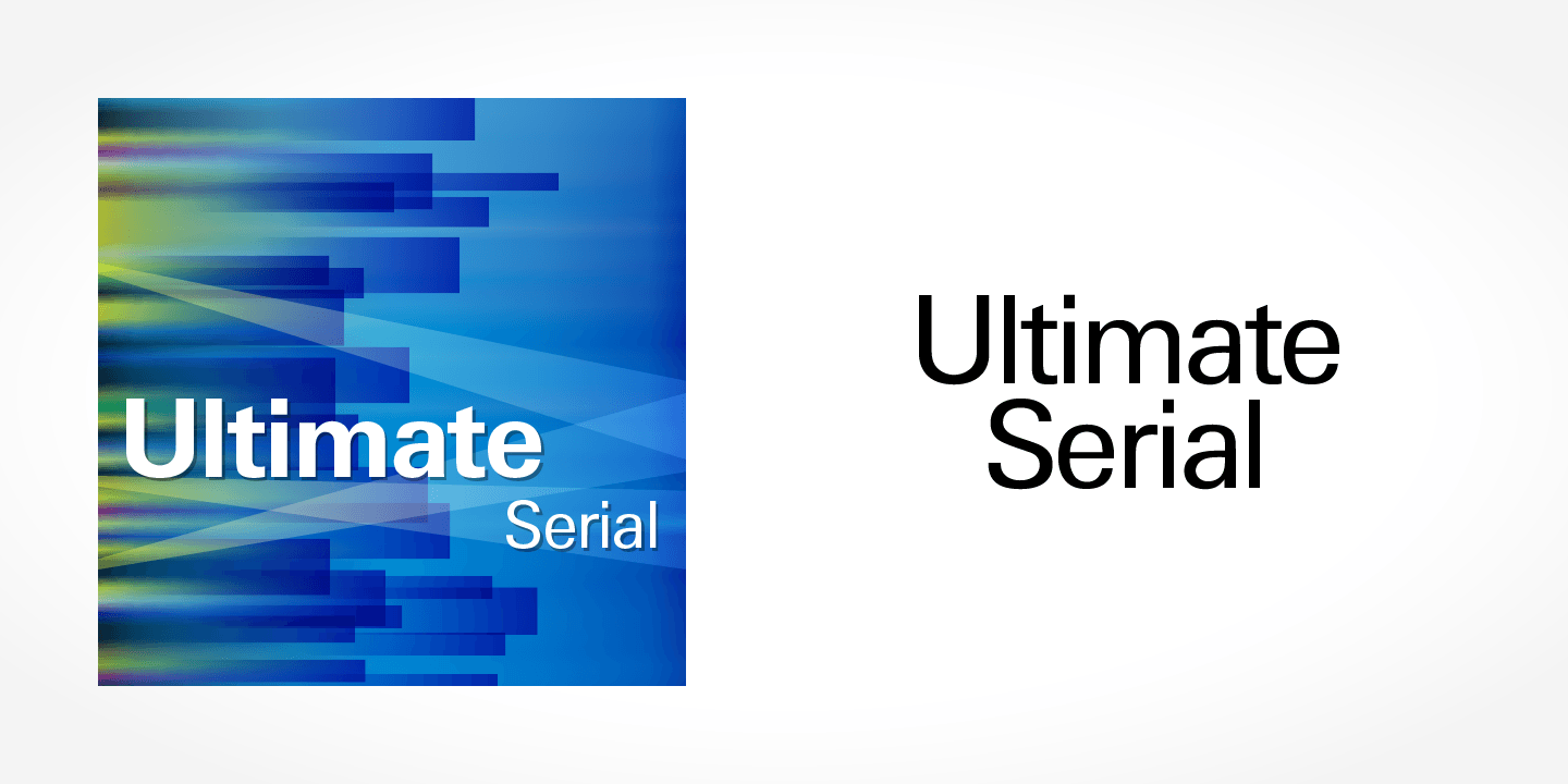 Ultimate Serial font family