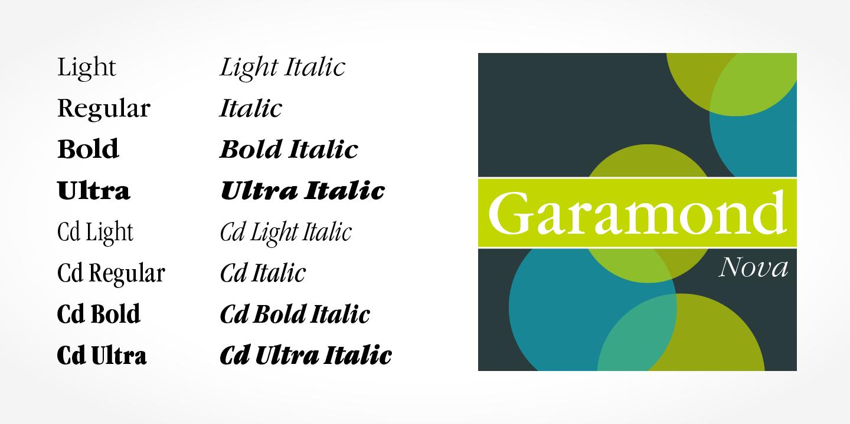 Fontspring | Garamond Nova Pro Fonts by SoftMaker