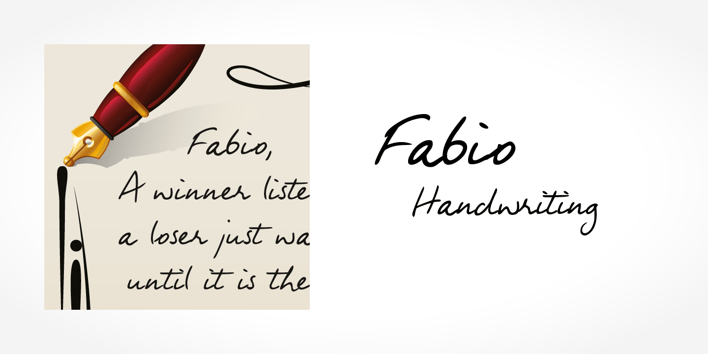 Fabio Handwriting font family