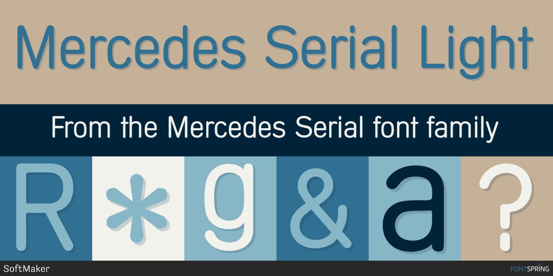 Mercedes benz font