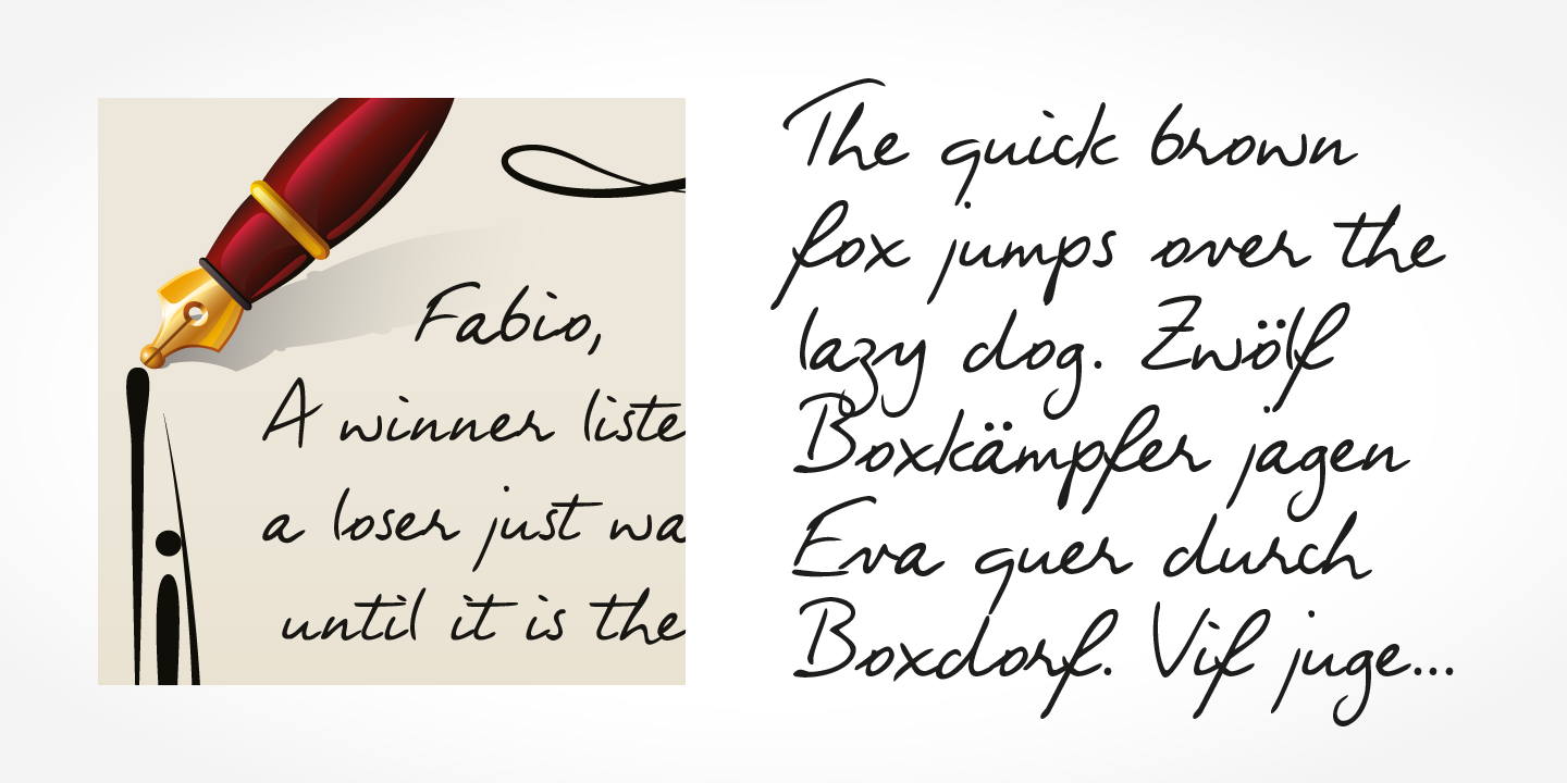 Fabio Handwriting font family - 3