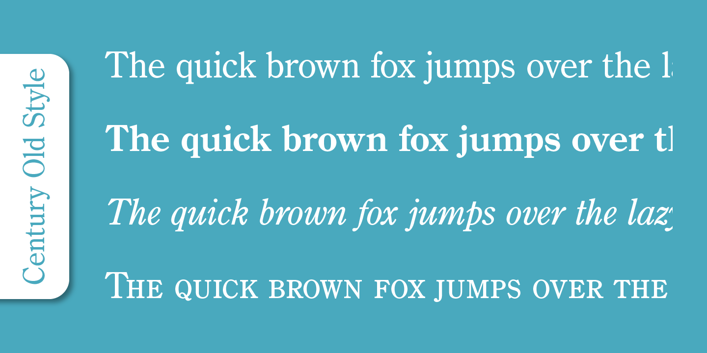 Century Old Style Pro font family - 4